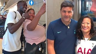 Tottenham Hotspur Fans Go NUTS As Mauricio Pochettino And The Team Arrives In L.A.