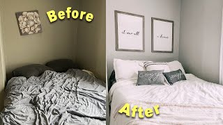 redecorating & decluttering my TINY bedroom