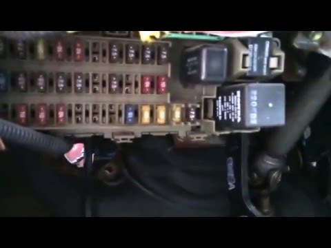 Honda Civic 1996-2000 Fuse Box Location - YouTubeYouTube