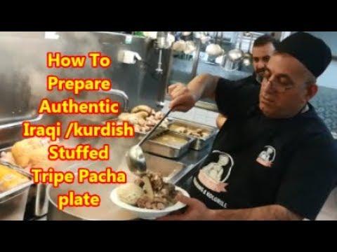 How To Make Authentic Iraqi / Kurdish  Stuffed Tripe Pacha Plate