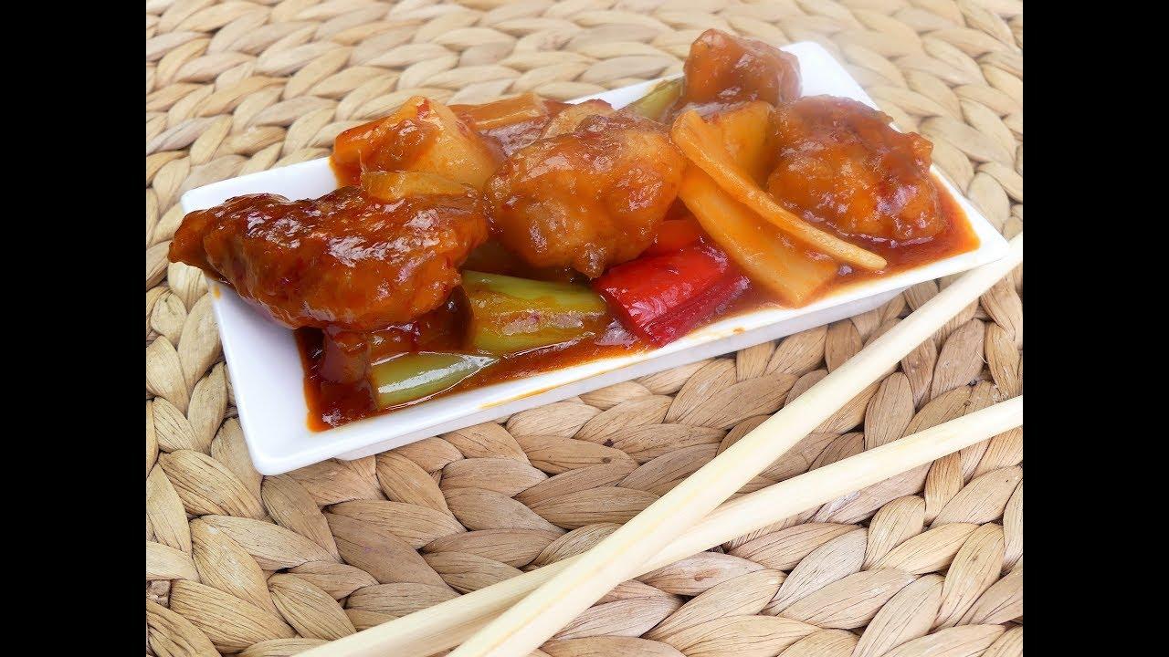 Hähnchen süß-sauer Blitzrezept /chinesische Küche - YouTube