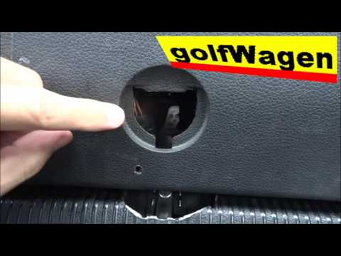 VW Golf, VW Passat, SEAT, Audi emergency opening the car trunk / manual