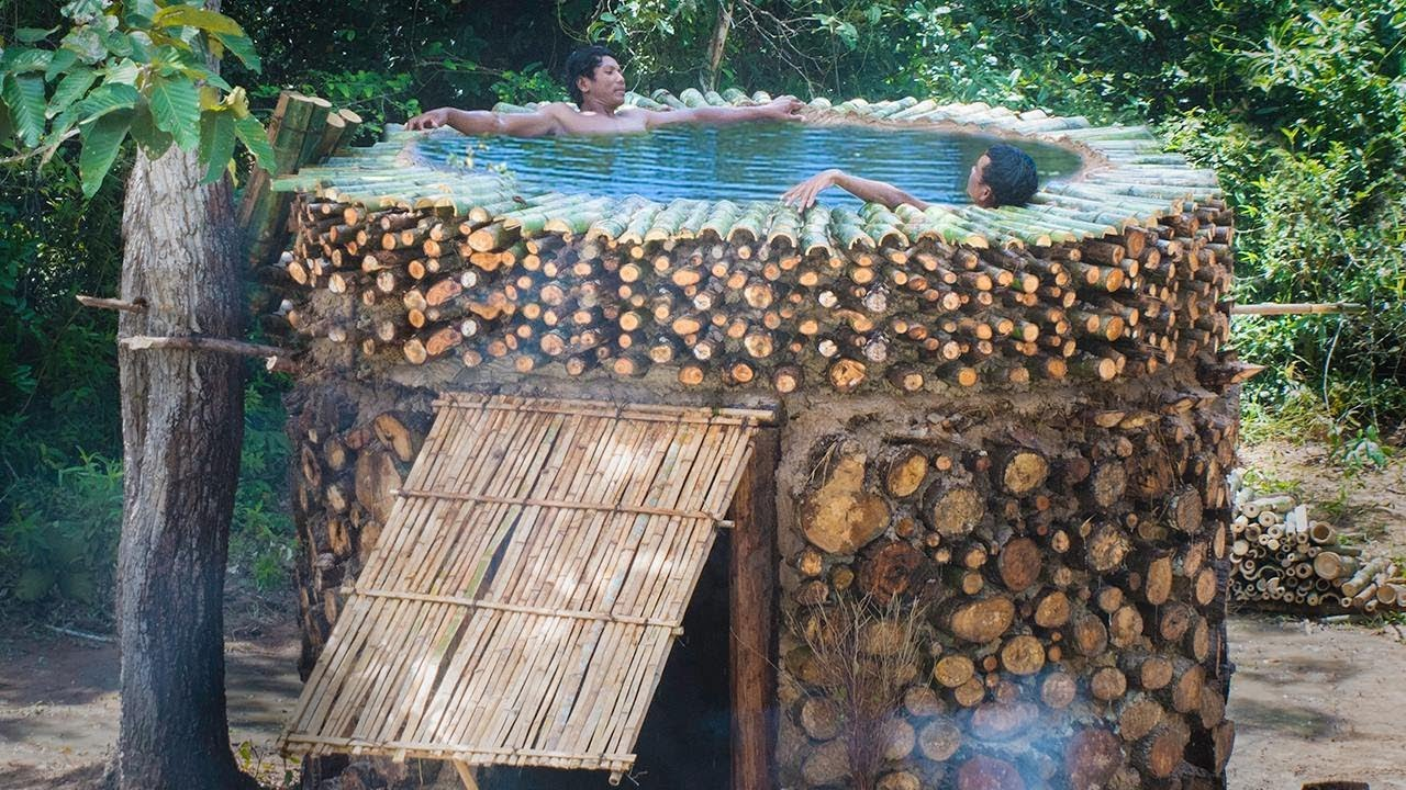 Survival Builder: Build Most Swimming Pool On The House By Firewood