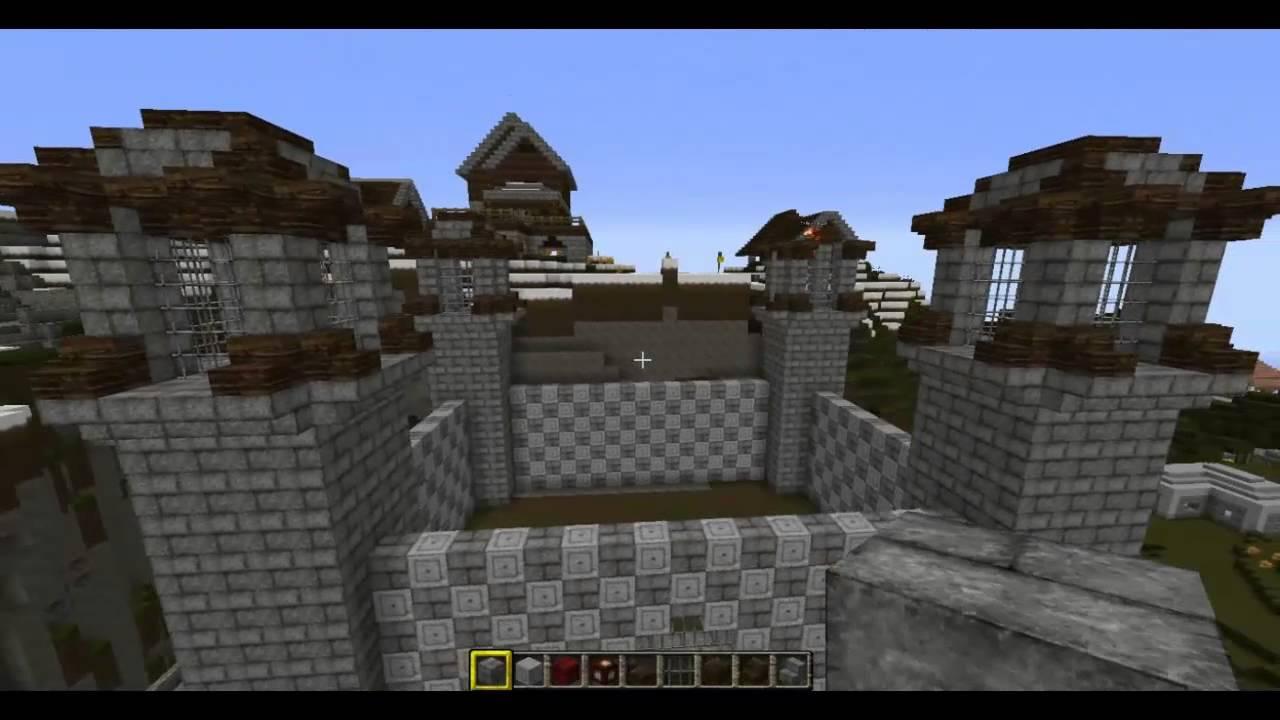 Minecraft costruiamo un villaggio castello for Case belle su minecraft