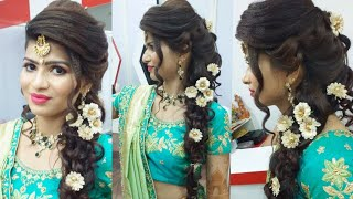 Easy & cute wedding hairstyle for girl( step-by-step)