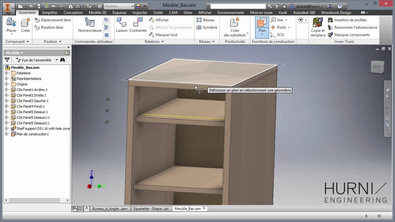 Autodesk inventor woodwork pour inventor réalisation d un