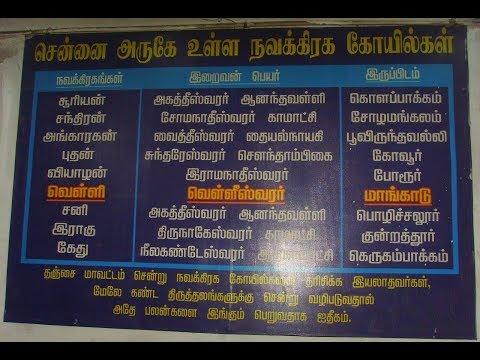 Navagraha Temples in Chennai || சென்னையில்  நவகிரக தலங்கள்