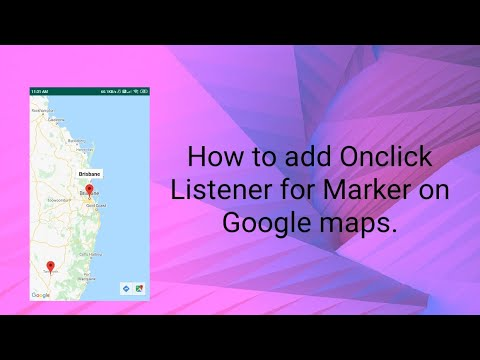 How To Add Onclick Listener For Marker On Google Maps In Android.