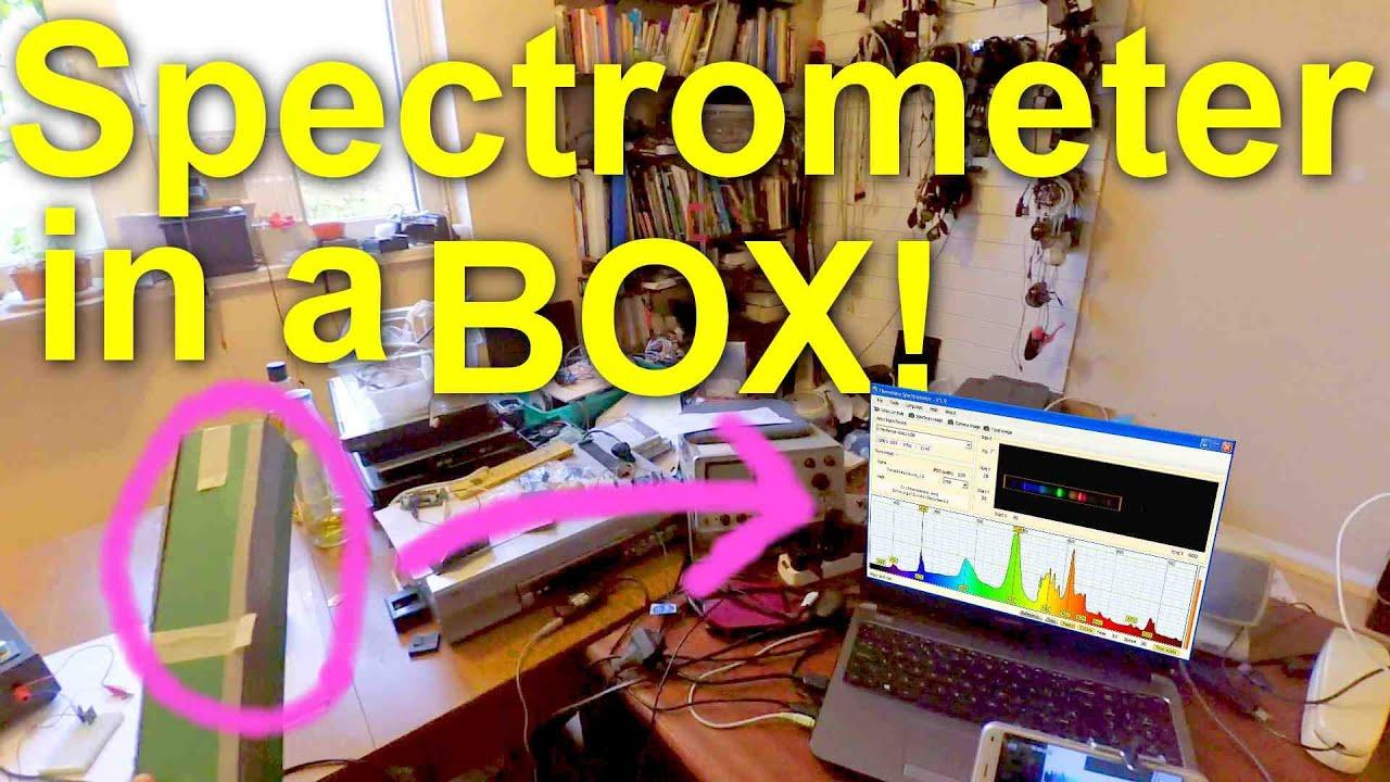 DIY Light Spectrometer - webcam