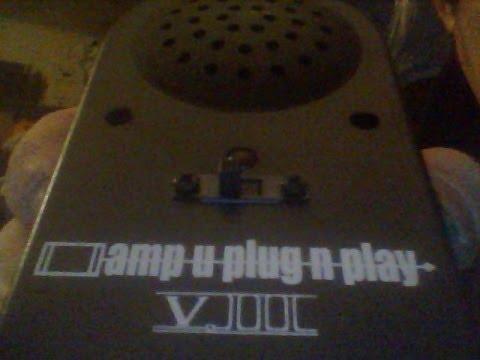 ''AMP-U- PLUG N PLAY VIII''   GUITAR MINI AMP REVIEW