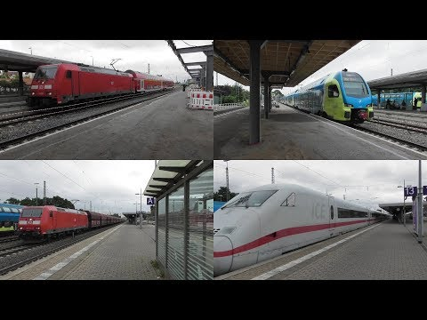 bahnverkehr-im-bahnhof-minden(westf)-mit-ice,-ic,-re78-ersatzzug,-güterzügen,-regionalzügen-&-s-bahn