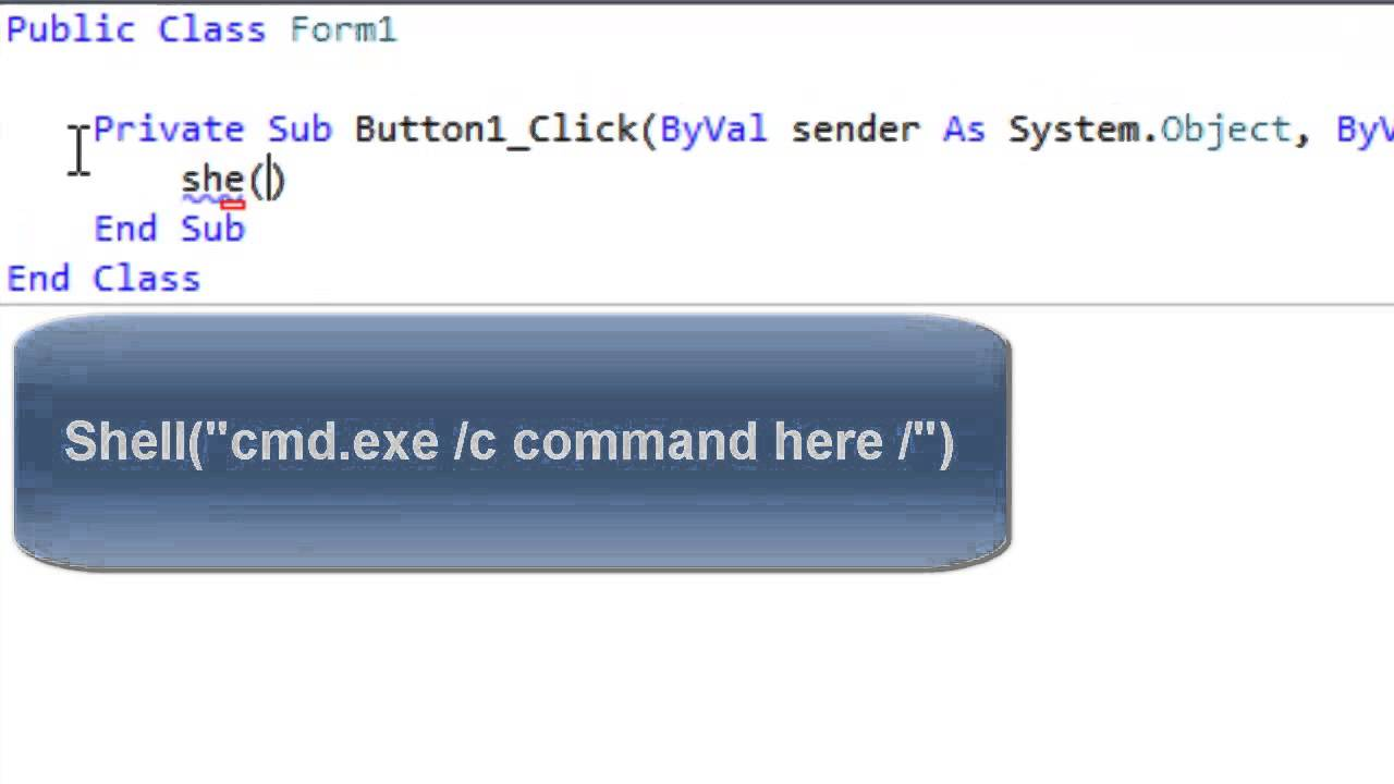 Shell Commands CMD Commands in VB: SouthernTechEngineering