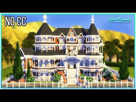 Sims 4 Speed Build - Bright Victorian Mansion | Kate Emerald
