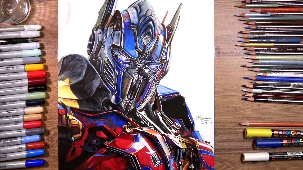 Transformers Optimus Prime Speed Drawing Drawholic Youtube
