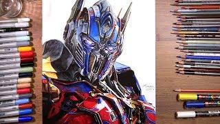 Transformers: Optimus Prime - speed drawing   drawholic
