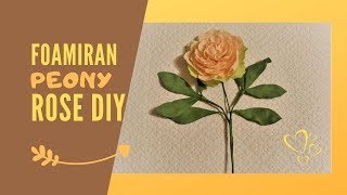 Foamiran Peony Tutorial | Easy step by step flower making lesson