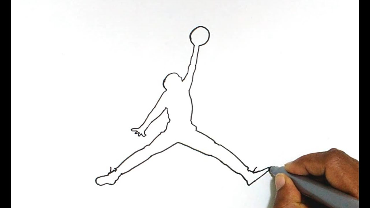 how to draw air jordan logo