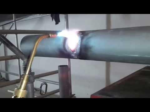 Autogen Schweißen Gas schweißen Acetylen Sauerstoff schweißen im Rohrleitungsbau YouTube Video