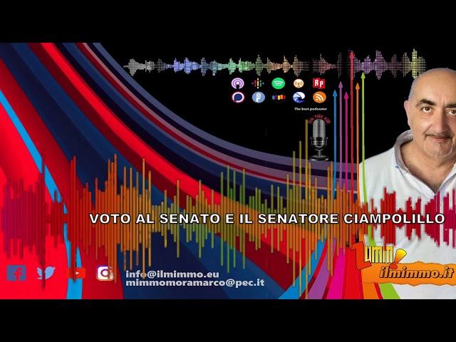Ilmimmo e ... Voto al Senato e il Senatore Ciampolillo