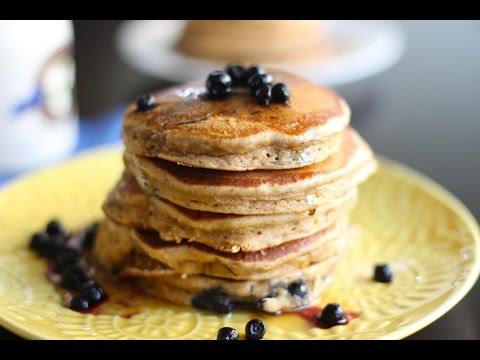 amazing light whole wheat blueberry pancakes