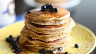 HEALTHY Whole Wheat Blueberry PANCAKES - Hot Chocolate Hits