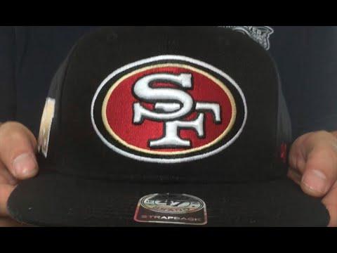 4e583dce5eb 49ers  SUPER-SHOT STRAPBACK  Black Hat by Twins 47 Brand - YouTube