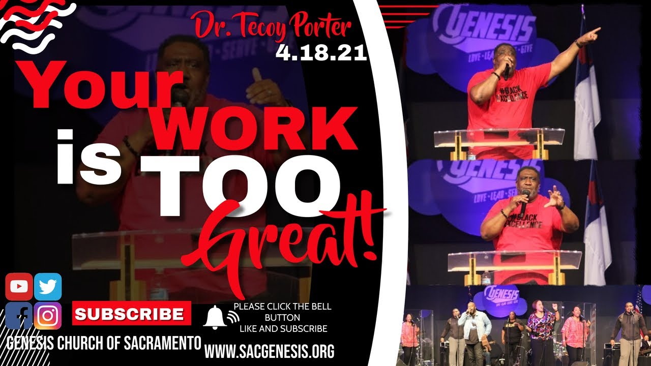 Genesis Livestream Replay from Today's Service, Your Work Is Too Great!