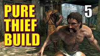 Skyrim Pure Thief Walkthrough 100% STOLEN LOOT Part 5: How to Sneak into the Thieves Guild