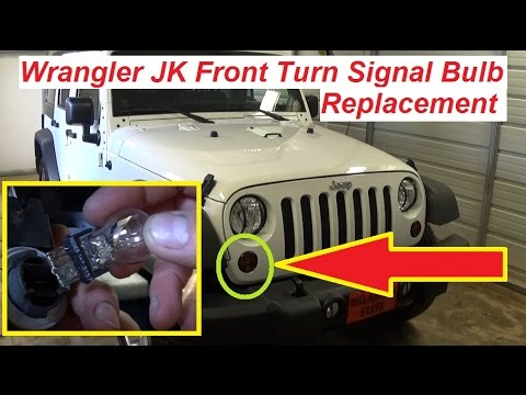 Jeep Wrangler JK Front Turn Signal Light Bulb Replacement 2007  2015  YouTube