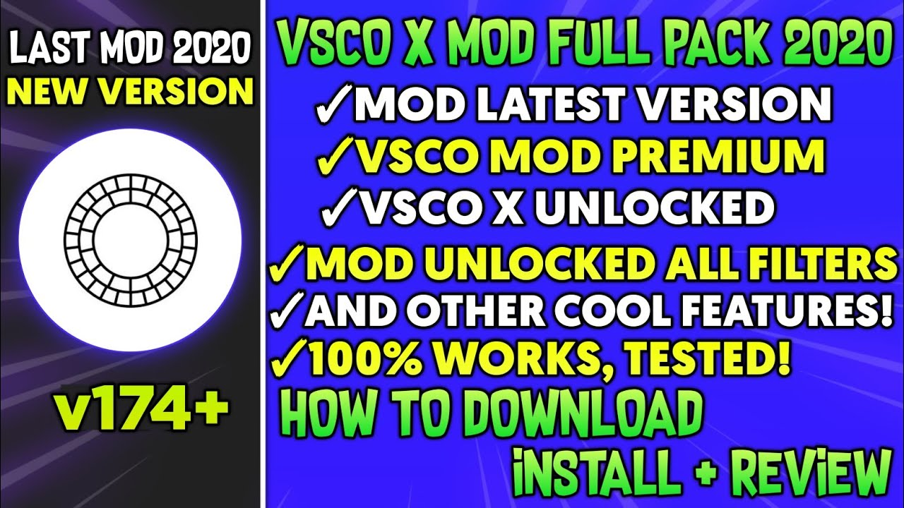 VSCO X Fullpack 2020 - (v174) Latest Version | Vsco X Unlock All Filters | Vsco Mod Premium Apk