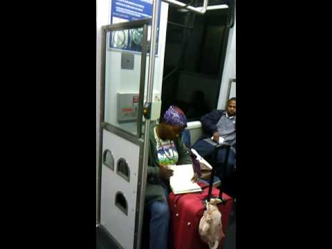 Lady goes bad on people on dart train(Dallas)for no reason
