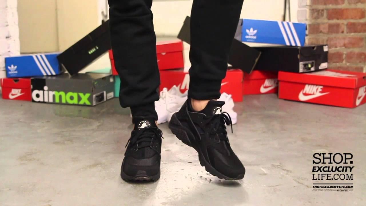 2e0eef8cc92e Nike Huarache Run Black - White On-feet Video at Exclucity - YouTube