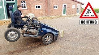 Radstand messen beim kürzesten Cabrio | Dumm Tüch