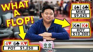 Set Over Set in High Stakes Poker ♠ Live at the Bike!
