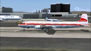 Western Airlines Douglas DC-6B at LAX (FS2004)