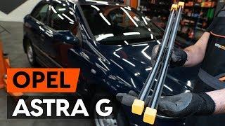 aizmugurē un priekšā Stikla tīrītāja slotiņa uzstādīšana OPEL ASTRA G Hatchback (F48_, F08_): bezmaksas video