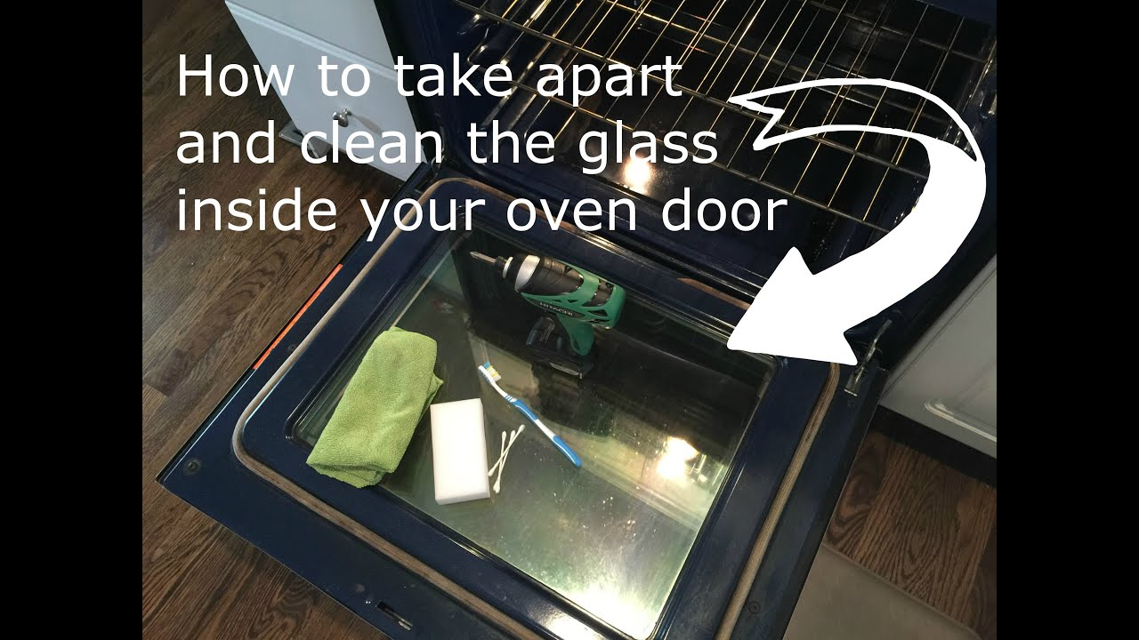 How to clean inside oven glass doors - YouTube