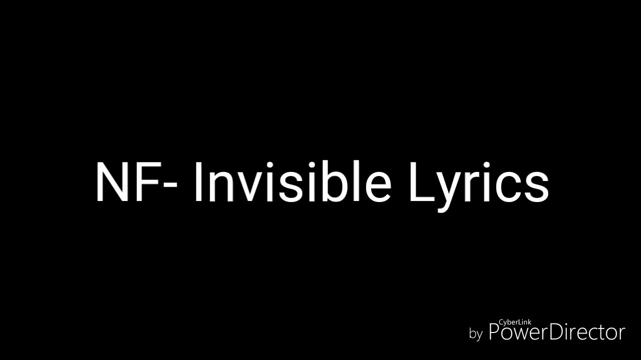 Download NF- Invisible Lyrics