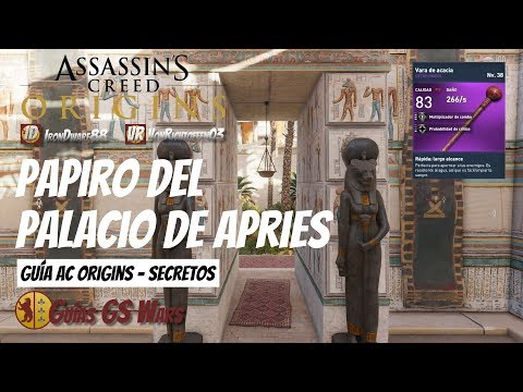 AC Origins | Guía SECRETOS | Papiro PALACIO DE APRIES de Memphis: A Simple Vista