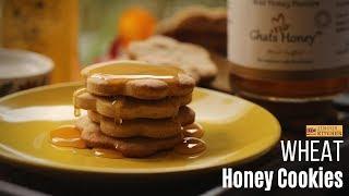 Wheat honey cookies recipe | Whole Wheat cookies recipe | Healthy cookies recipes