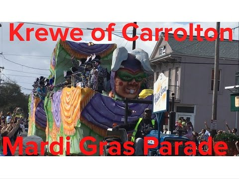 2016 Krewe of Carrolton New Orleans Mardi Gras Parade