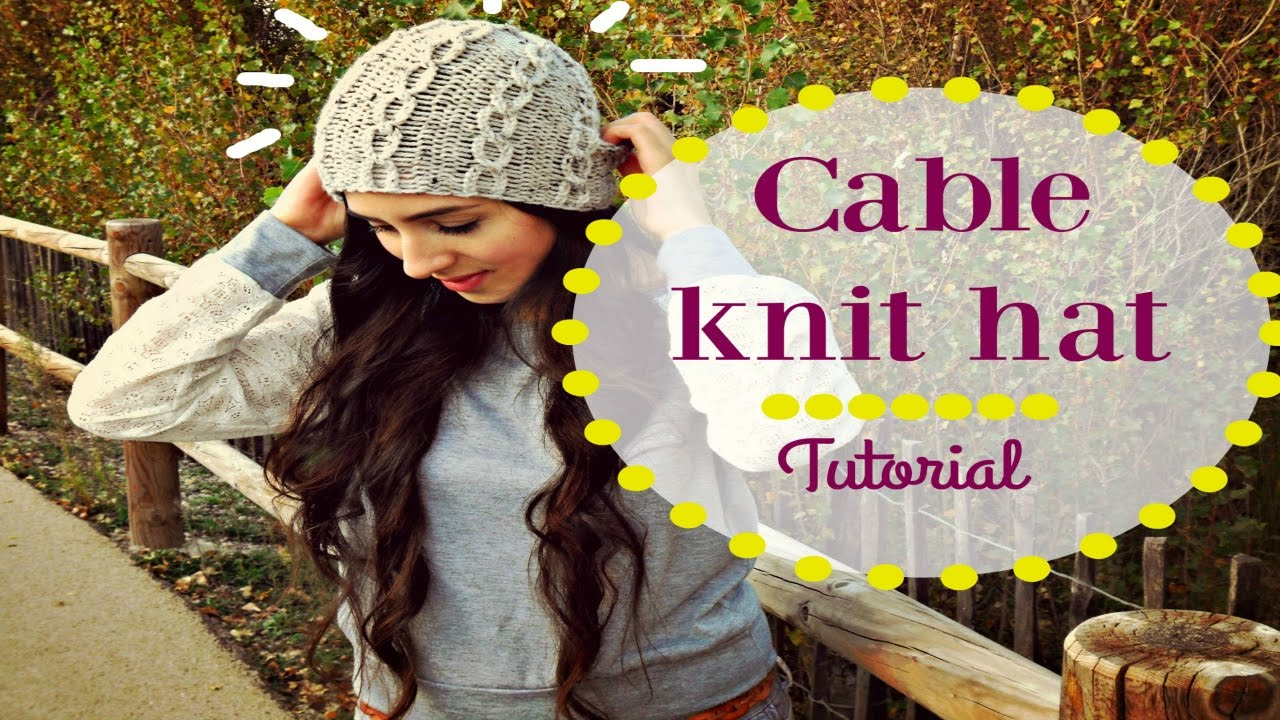 EASY KNITTED CABLE HAT - YouTube 31c258cba2c