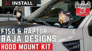 2009-2014 F150 & Raptor Baja Designs Hood Mount Kit Install