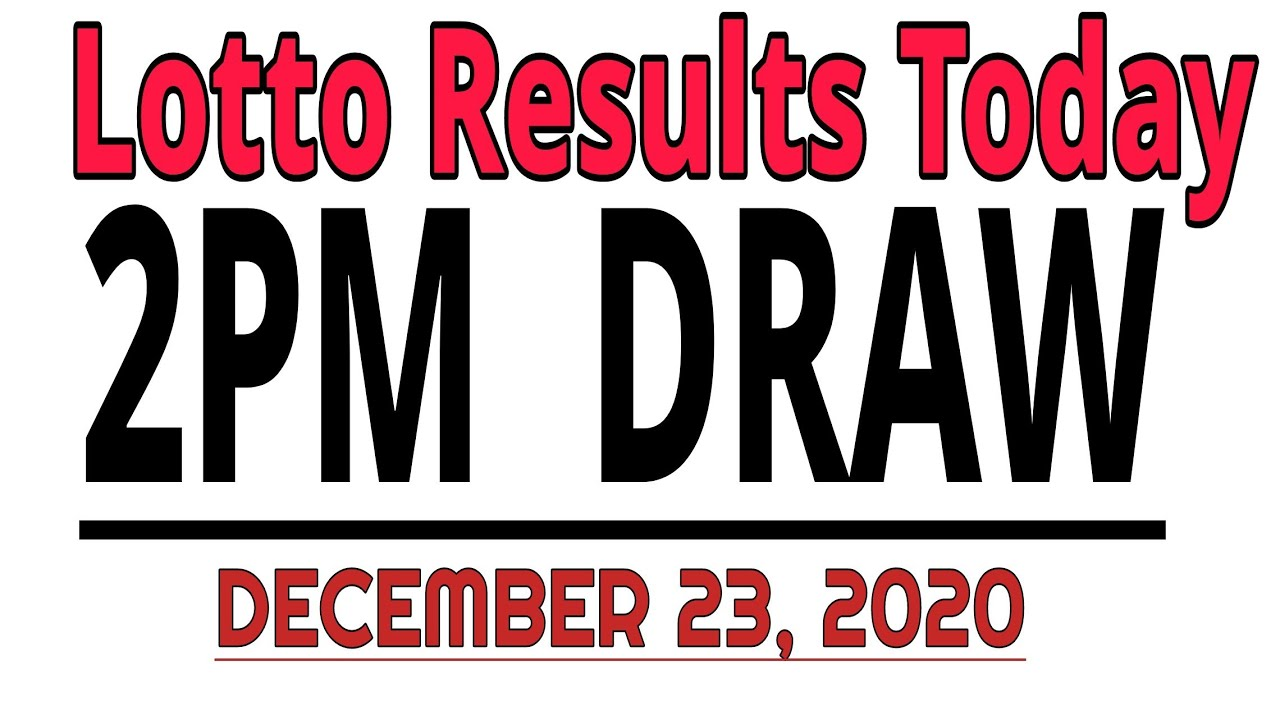 Pcso Lotto Results Today December 23 2020 2pm Draw Swertres Results Today 3d 2d Stl Youtube