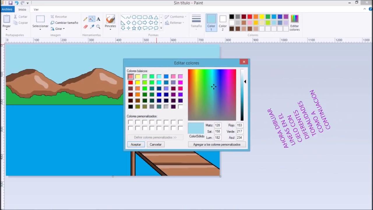 Como hacer un paisaje en paint youtube for Para desarrollar un parque ajardinado