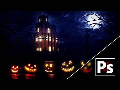 Photoshop CC Tutorial - Halloween Background Manipulation