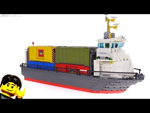 Custom LEGO Container Ship MOC rebuild / hull transplant!