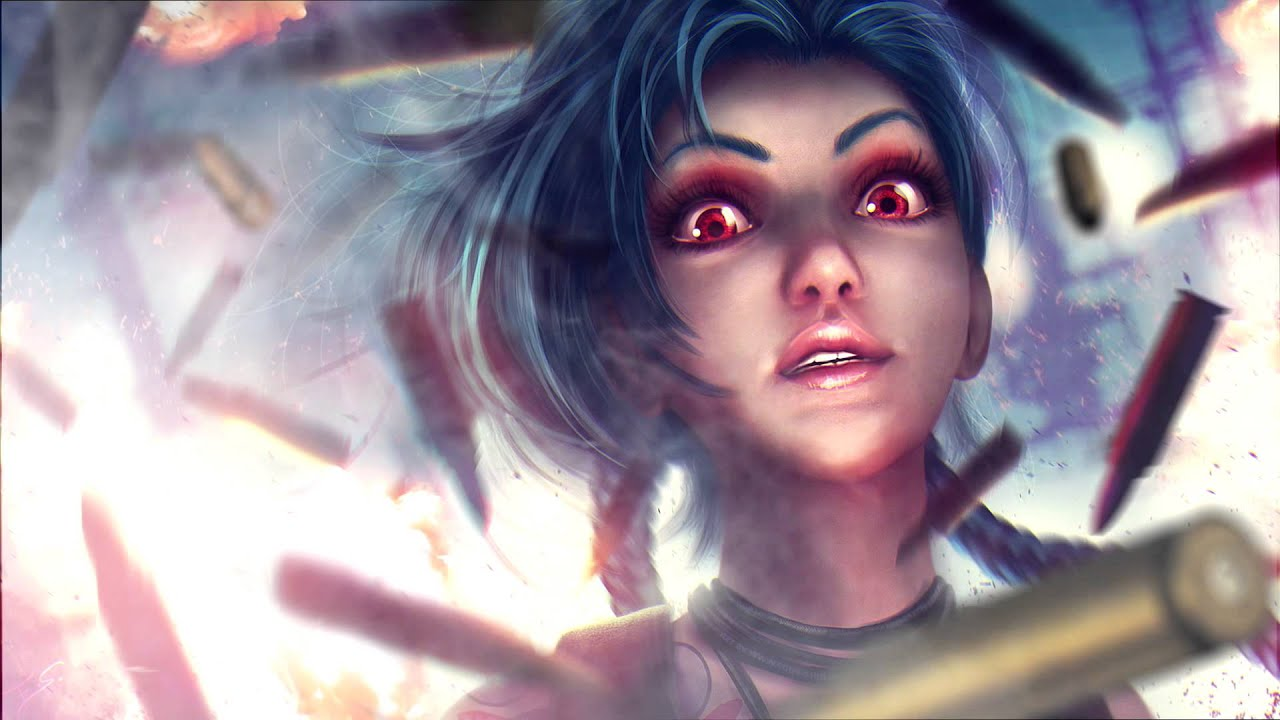 jinx animation - animated wallpaper fan art || league of legends