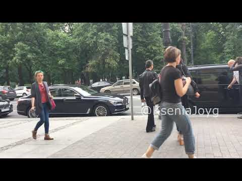 Dave Gahan left the hotel with family 11.07.2017 Saint-Petersburg