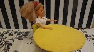 Круглый столик для куклы. Как сделать столик для куклы. How to make a table for dolls